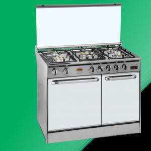 Puma Cooking Range Double Door 5 Burner(Pizza Plate) Murcury Glass