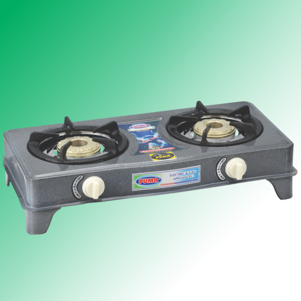 Puma One Piece Round body double heavy burner Gas Stove Avalible in Sui Gas & Cylinder Gas