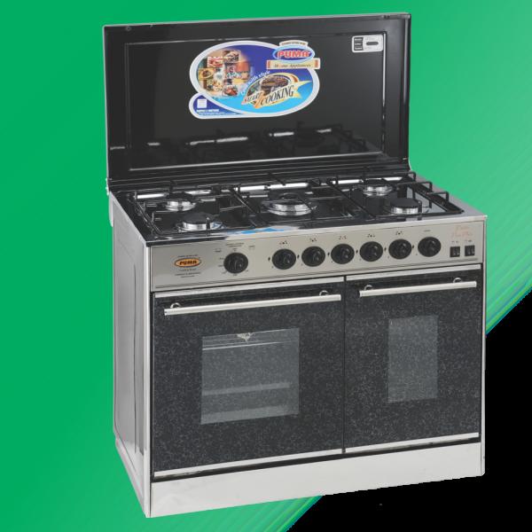 Puma Cooking Range Double Door 5 Burner(Pizza Plate)