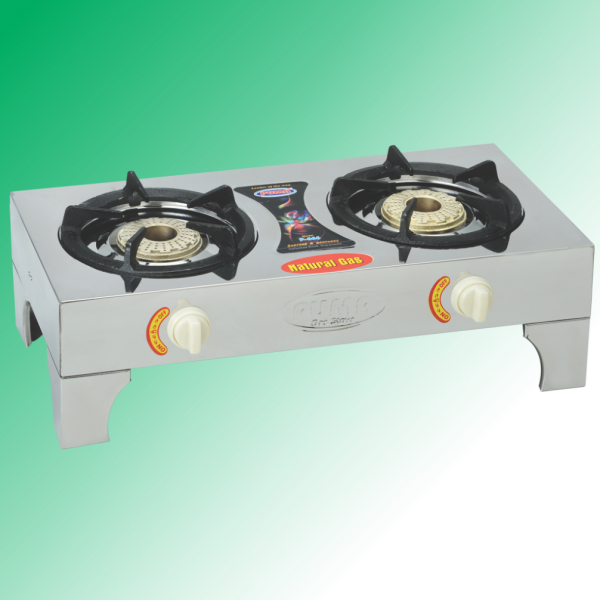 Puma Full Steal Megnet Double Heavy Burner Gas Stove Avalible in Sui Gas & Cylinder Gas