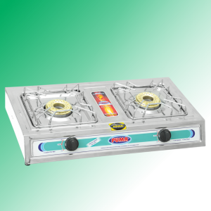 Puma Sanyo Megnate Steal Double burner Auto Switch Gas Stove Avalible in Sui Gas & Cylinder Gas