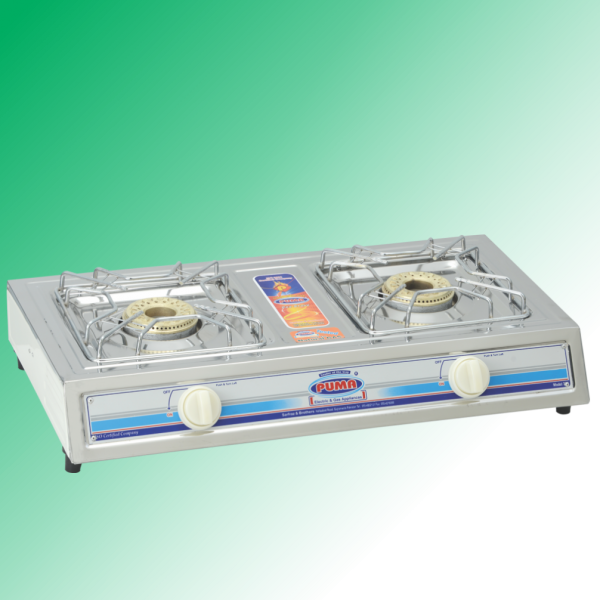 Puma Sanyo Megnate Steal Double burner Gas Stove Avalible in Sui Gas & Cylinder Gas