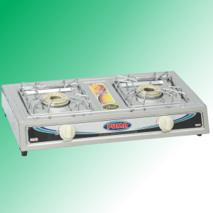 Puma Sanyo Super Model double Burner Gas Stove Avalible in Sui Gas & Cylinder Gas