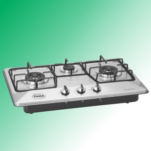 Puma Kitchen Hob 3 Burner Autometic Marble Whole Size(67x41cm)